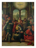 Descent of the Holy Ghost Giclee Print by Pieter Coecke van Aelst