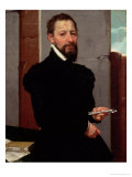 Giovanni Pietro Maffeis (1533-1603), Professor of Rhetoric at Genoa University (1563) Giclee Print by Giovanni Battista Moroni