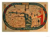 Beatus Mappamundi, 8th Century Premium Giclee Print