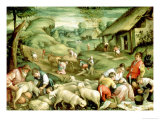 Summer, 1570-80 Giclée-tryk af Francesco Bassano