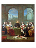 St. Vincent De Paul and the Sisters of Charity, circa 1729 Giclee Print by Jean Andre