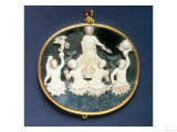 Sardonyx Cameo Commemorating the Naval Victory of Julius Caesar over Mark Antony Giclee Print