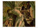 The Flagellation of Christ Giclee Print by Michael Pacher