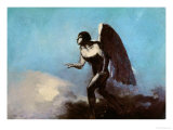 The Winged Man Or, Fallen Angel, Before 1880 Giclee Print by Odilon Redon