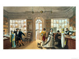 The Library, from Poetical Sketches of Scarborough, by Rudolph Ackermann (1764-1834), 1813 Premium Giclee Print by James Green