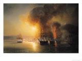 Capture of the Fort of Saint-Jean-D'Ulloa on 23rd November 1838, 1839 Giclee Print by Baron Theodore Gudin