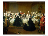 Wedding Breakfast of Empress Maria Theresa of Austria and Francis of Lorraine, circa 1736 Giclee Print by Martin van Meytens