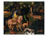 The Vision of Saint Eustace, circa 1438-42 (Egg Tempera on Wood) Giclée-tryk af Antonio Pisani Pisanello