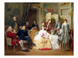 Abbe Prevost Reading &quot;Manon Lescaut,&quot; 1856 Giclee Print by Joseph Caraud