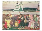 The Fair, 1906 Premium Giclee Print by Boris Kustodiyev