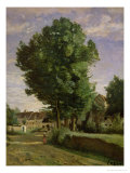 Outskirts of a Village Near Beauvais, circa 1850 Giclee Print by Jean-Baptiste-Camille Corot