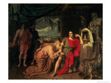 King Priam Begging Achilles for the Return of Hector's Body, 1824 Giclee Print by Aleksandr Andreevich Ivanov