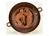Jason is Regurgitated after Being Swallowed by a Serpent, Athenian Red, Kylix Drinking Cup, Greek Giclee Print