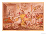 Matrimonial Harmonics, Satirical Cartoon, 1805 Giclee Print by James Gillray