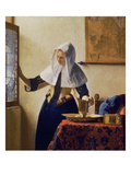 Young Woman with a Water Jug, circa 1662 Giclée-tryk af Jan Vermeer