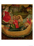 Embarkation of the Body of St. James the Greater, Bound for Spain, circa 1425 Giclee Print by  Master of Raigern