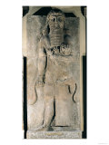 The Hero Gilgamesh Holding a Lion That He Has Captured, Stone Relief from the Palace of Sargon II Giclee Print