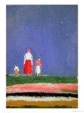 Tre figurer, 1913-28 Giclée-tryk af Kasimir Malevich