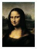 Mona Lisa, c.1507 (detail) Giclée-Premiumdruck von  Leonardo da Vinci