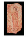 Woman with Typically Chinese Features in Nestorian Painting, Assyrian, 5th Century Giclee Print