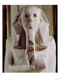 The Colossi of Memnon, Statues of Amenhotep III, circa 1375-1358 BC Giclee Print