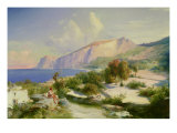 The Marina Grande, Capri, circa 1829 Giclee Print by Karl Blechen