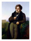 Portrait of Francois Rene (1768-1848) Vicomte De Chateaubriand, 1811 Gicle-tryk af Anne-Louis Girodet de Roussy-Trioson