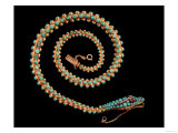 English Gold Snake Necklace, with Pave Set Diamonds, Garnets and Turquoises, 1844 Giclee Print