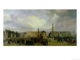 The Ceremony for the Return of Napoleon's Ashes in 1840 Giclee Print by Jacques Guiaud