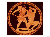 Red-Figure Dish Depicting Theseus Slaying the Minotaur, 5th Century BC Giclee Print