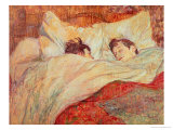 The Bed, circa 1892-95 Reproduction procédé giclée par Henri de Toulouse-Lautrec