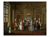"A Family in a Palladian Interior (""The Tylney Group""), 1740 Giclee Print by Joseph Francis Nollekens"