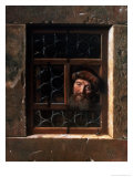 Man at a Window, 1653 Giclee Print by Samuel van Hoogstraten