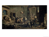A Court of the Inquisition, circa 1710-20 Giclée-tryk af Alessandro Magnasco