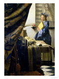 The Painter in His Studio, 1665-6 Giclee Print by Jan Vermeer