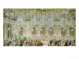 The Masked Ball at the Galerie Des Glaces, 17th February 1745 Giclee Print by Charles-Nicolas Cochin II