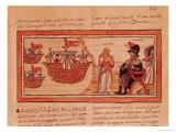 The Indian Princess Malinche or Dona Marina, Mistress of Hernando Cortes (1485-1547) Premium Giclee Print by Diego Duran