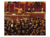 Jean Jaures (1859-1914) Speaking at the Tribune of the Chamber of Deputies, 1903 Giclee Print by Jean Veber