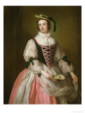 Portrait of Frances Macartney, circa 1745 Giclee Print by George Knapton