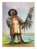 Mandan Indian Ha-Na-Tah-Muah (Wolf Chief) Giclee Print by George Catlin