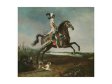Equestrian Portrait of Marie Antoinette in Hunting Attire, 1783 Giclee Print by Louis-Auguste Brun
