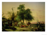 Pasture Land Giclee Print by Friedrich Gauermann