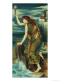 Hero Awaiting the Return of Leander Giclee Print by Evelyn De Morgan