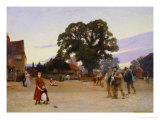 Our Village, 1890 Giclee Print by Hubert von Herkomer