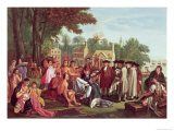 William Penn&#39;s Treaty with the Indians in 1683 Giclee Print by Benjamin West