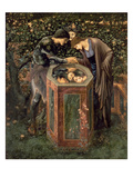 The Baleful Head, Illustration from William Morris' 'The Earthly Paradise' Premium Giclee Print by Edward Burne-Jones