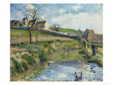 The Farm at Osny, 1883 Giclee Print by Camille Pissarro
