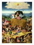 The Haywain: Central Panel of the Triptych, circa 1500 Giclee Print by Hieronymus Bosch