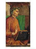 Portrait of Dante Alighieri (1265-1321), circa 1475 Giclee Print by Joos van Gent