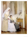 At Notre-Dame Du Perpetuel Bon Secours Hospital, 1903 Giclee Print by Jules Jean Geoffroy